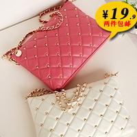 NEW! NEW! 2013 Spring and Summer Women's Rivet Chain Vintage Envelope Shoulder Bag Ladies Day Clutch Hand Bag 9 COLORS JS102