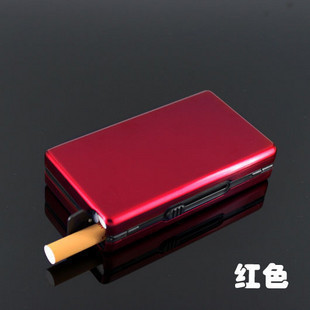 Small series of the rifle rex 's top aluminum alloy automatic cigarette case 10(China (Mainland))
