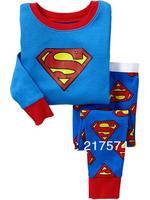 Hot Free Shipping Cartoon Pajama set  Wholesale 6sets/lot Baby Sleepwear Shirts  pants /long sleeve Underwears sets 6sizes 7269