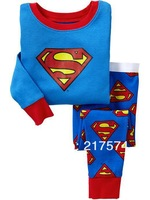 Hot Free Shipping Cartoon Pajama set  Wholesale 6sets/lot Baby Sleepwear Shirts  pants /long sleeve Underwears sets 6sizes 7269