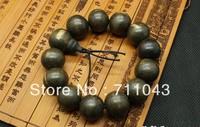 Vietnam natural Inverted frame aloes beads bracelet hand string agarwood beads aloeswood beads 16mm for men