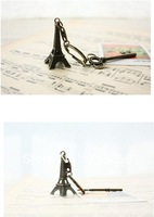 60pcs/lot 3D Eiffel Tower French France Souvenir Paris KeyChain Key Chain Key Holder Keyring 3 colors Free Shipping