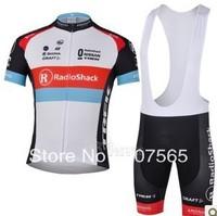 2013 radio shack Cycling Jersey / Bike Wear shirt + Bib Shorts Sets / Suite Size :S,M.L.XL.XXL.XXXL