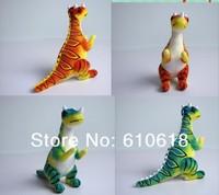 Free Shipping Wholesale 24 Pcs/Lot Ceratosaurus Jurassic Dinosaur Children's Educational Toys Plush Toy Gift  Doll Model