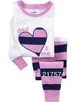 Hot Free Shipping Cartoon Pajama set  Wholesale 6sets/lot Baby Sleepwear Shirts  pants /long sleeve Underwears sets 6sizes 7217