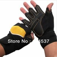 Free Shipping The lengthened Wrist Korean fitness gloves Men's Sports gloves Semi-barbell Dumbbell Bike Rding Separate fingers