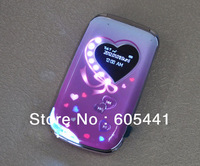 NEW Flip Lady Phone W700 with LED Music Flashlight Camera Blutooth Dual Screen Dual Sim Girl Phone Russian Keyboard Available