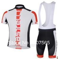 2013 cas Cycling Jersey / Bike Wear shirt + Bib Shorts Sets / Suite Size :S,M.L.XL.XXL.XXXL