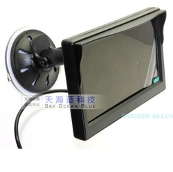 5'' digital high-definition display 800*480 belt sucker car display screen reversing roof mounted monitor(China (Mainland))