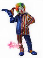 free shipping Clown clothes clown clothes costumes clown set clown clothes f