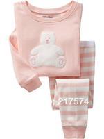 Hot Free Shipping Cartoon Pajama set  Wholesale 6sets/lot Baby Sleepwear Shirts  pants /long sleeve Underwears sets 6sizes 7057