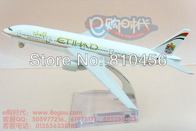 Free Shipping,Etihad Airways B777, 16cm, metal airplane models model plane ,diecast aircraft(China (Mainland))