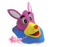 free shipping 6pcs/lot Eva hat cartoon animal hair accessory three-dimensional hat sun hat sunbonnet donkey hat