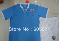 ^_^ NEW seasons Uruguay soccer jerseys home soccer uniform shirts + shorts top quality + free shipping