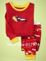 Hot Free Shipping Cartoon Pajama set  Wholesale 6sets/lot Baby Sleepwear Shirts  pants /long sleeve Underwears sets 6sizes 7258