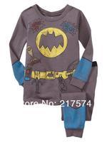 Hot Free Shipping Cartoon Pajama set  Wholesale 6sets/lot Baby Sleepwear Shirts  pants /long sleeve Underwears sets 6sizes 7271