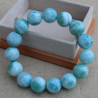 Beautiful natural dream of the ocean needle soda lime stone beads bracelet