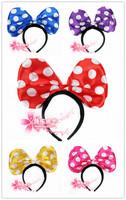 free shipping 6pcs/lot Halloween supplies hair bands - Medium big bow belt dot headband