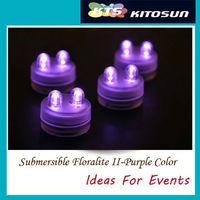 10units/lot Purple Submersible Led tea lights- Centerpiece decorations lighting