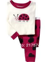 Hot Free Shipping Cartoon Pajama set  Wholesale 6sets/lot Baby Sleepwear Shirts  pants /long sleeve Underwears sets 6sizes 7084