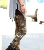 New Fashion Knitting K122 women pants camouflage pattern 2014 for women 3 colors printed leggings plus size FREE SHIPPING