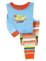 Hot Free Shipping Cartoon Pajama set  Wholesale 6sets/lot Baby Sleepwear Shirts  pants /long sleeve Underwears sets 6sizes 7304