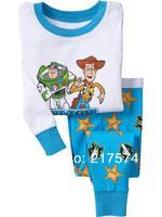 Hot Free Shipping Cartoon Pajama set  Wholesale 6sets/lot Baby Sleepwear Shirts  pants /long sleeve Underwears sets 6sizes 7182
