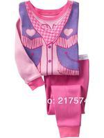 Hot Free Shipping Cartoon Pajama set  Wholesale 6sets/lot Baby Sleepwear Shirts  pants /long sleeve Underwears sets 6sizes 7037