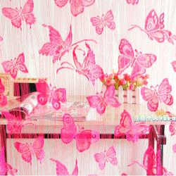 Hoge kwaliteit vlinder romantische encryptie ingang hal ramen deur decoratie gordijnen for Hal ingang