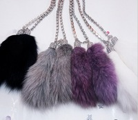 Car car with diamond fox fur car diamond hangings quality mink hangings