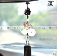 Crystal car pendant ivory crystal gourd car rearview mirror charm