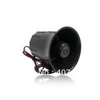 15W DC12V Wired High Decibel Alarm Siren alarm trumpet warning  horn outdoor siren alarm loudspeaker black speaker