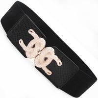 Hot broadcasting women's gold rope belt cummerbund wide belt ml51