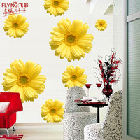 Furnishings wall stickers romantic four seasons sofa wall tv background wall stickers flower
