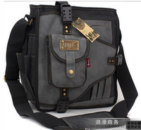 free shipping new 2013 leisure bags canvas shoulder bag sports men messenger bag child  korean military bag