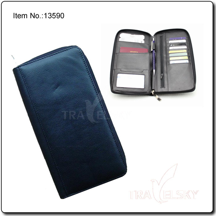 13590 RFID Blocking Faux Leather Card Organizer Delux(China (Mainland))