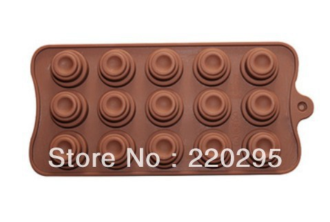 Hot! Free Shipping,1pcs round shape Muffin case Candy Jelly Ice cake soap Chocolate Silicone Mould Mold(China (Mainland))