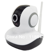P2P iPhone/iPad/Android/ PC CMOS 300K pixel two way audio IR distande: 10m Wireless indoor ip camera