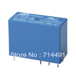 SMIH-12VDC-SL-C Relays contact segment 16A 240VAC free shipping(China (Mainland))