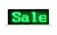Free shipping (5pieces/lot)100% led manufacturer sale led mini board led tag led card  led badge Green color 12*36T Pixel