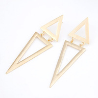 Min. order is $10 (mix order)free shipping 2013 new jewelry european style Fashion personality nobe triangle cutout stud earring
