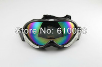 2013new Ski Motorcycle Off-Road Racing Goggles Eyewear Single Lens Colors Frame Black