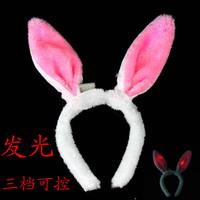 free shipping 6pcs/lot Cos shiny rabbit ears rabbit hair bands headband hair accessory plush rabbit ears
