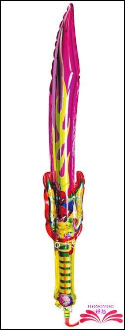 Spedizione gratuita: 93x20cm spada forma tifo bastone, spada palloncino battagli, palloncino gonfiabile bastone