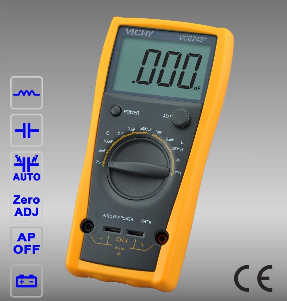 Digital LCR Meter/Vichy/VC6243+ 3 1/2 Digital LC meter/**free shipping