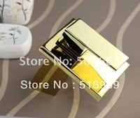 Square Kitchen Faucet Polished Golden Bathroom Basin Sink Mixer Tap NB-1348