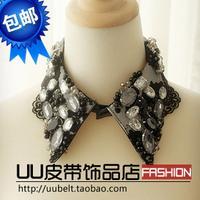 Multicolour gem pearl collar necklace false collar vintage accessories female collar