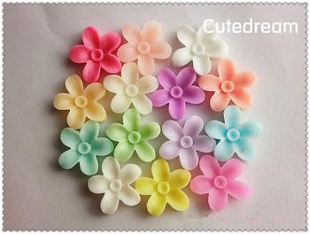 Free Shipping 100pcs flat back resin flower diy phone decoration Mobilephone Decoration Wholesales X-517