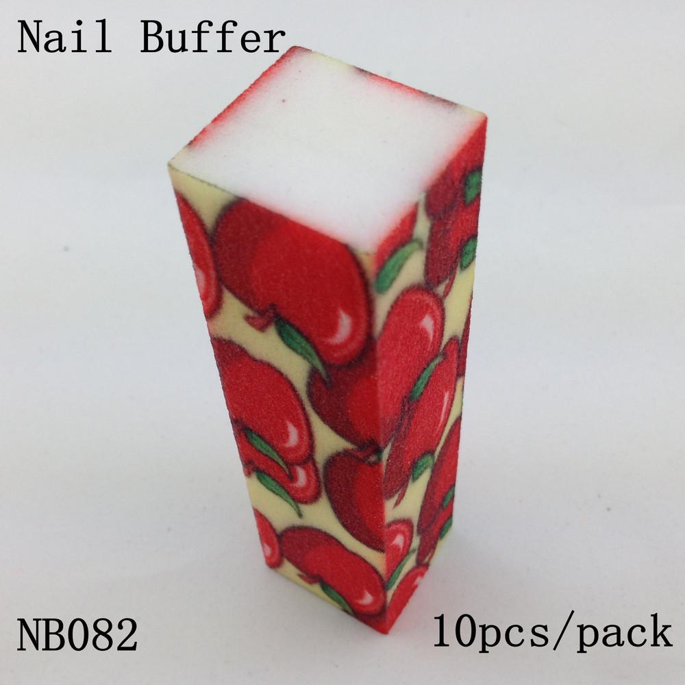 [ Retail ] High-Quality Apple Pattern Nail Buffer Block File 4 Way Shine, 10pcs/lot + Free Shipping(China (Mainland))