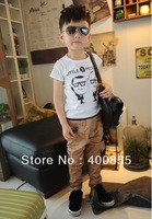 Children's clothes,Fashion Cotton Kid's T-SHIRT boys & girls short sleeve t-shirt, 20pcs per lot,Discount shipping